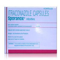 スポラノックス(イトラコナゾール)100mg 4錠